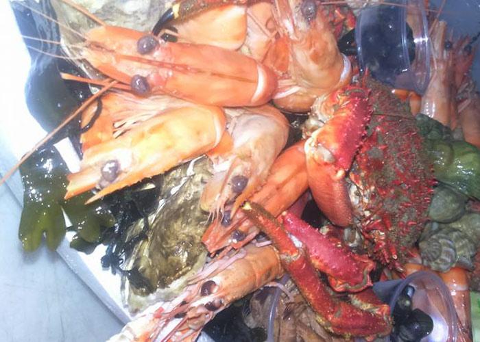 Plateau de fruits de mer à Quiberon